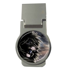 Angry Lion Digital Art Hd Money Clips (round)