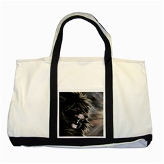 Angry Lion Digital Art Hd Two Tone Tote Bag