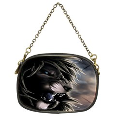 Angry Lion Digital Art Hd Chain Purses (two Sides)