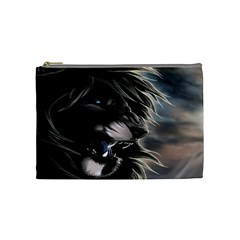 Angry Lion Digital Art Hd Cosmetic Bag (medium)