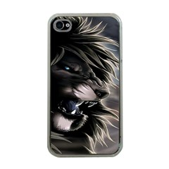 Angry Lion Digital Art Hd Apple Iphone 4 Case (clear)