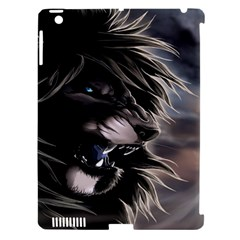 Angry Lion Digital Art Hd Apple Ipad 3/4 Hardshell Case (compatible With Smart Cover)