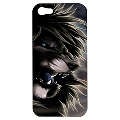 Angry Lion Digital Art Hd Apple Iphone 5 Hardshell Case