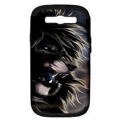 Angry Lion Digital Art Hd Samsung Galaxy S Iii Hardshell Case (pc+silicone)
