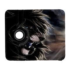 Angry Lion Digital Art Hd Galaxy S3 (flip/folio)