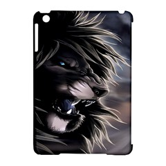 Angry Lion Digital Art Hd Apple Ipad Mini Hardshell Case (compatible With Smart Cover)