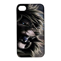 Angry Lion Digital Art Hd Apple Iphone 4/4s Hardshell Case With Stand