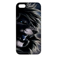 Angry Lion Digital Art Hd Apple Iphone 5 Premium Hardshell Case