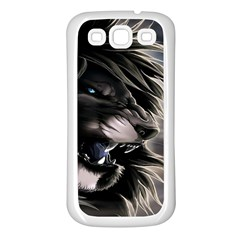 Angry Lion Digital Art Hd Samsung Galaxy S3 Back Case (white)