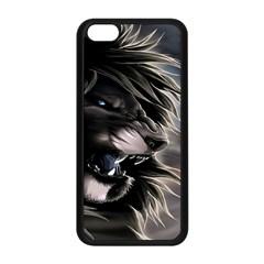 Angry Lion Digital Art Hd Apple Iphone 5c Seamless Case (black)