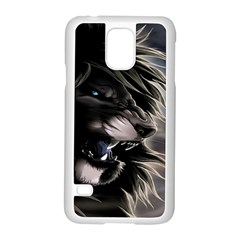 Angry Lion Digital Art Hd Samsung Galaxy S5 Case (white)
