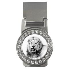 Lion Wildlife Art And Illustration Pencil Money Clips (cz)