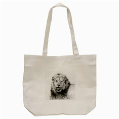 Lion Wildlife Art And Illustration Pencil Tote Bag (cream)
