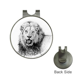 Lion Wildlife Art And Illustration Pencil Hat Clips With Golf Markers