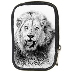 Lion Wildlife Art And Illustration Pencil Compact Camera Cases
