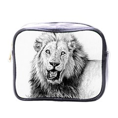 Lion Wildlife Art And Illustration Pencil Mini Toiletries Bags