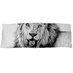 Lion Wildlife Art And Illustration Pencil Body Pillow Case Dakimakura (two Sides)