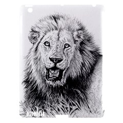 Lion Wildlife Art And Illustration Pencil Apple Ipad 3/4 Hardshell Case (compatible With Smart Cover)