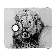 Lion Wildlife Art And Illustration Pencil Galaxy S3 (flip/folio)