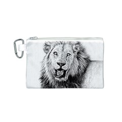 Lion Wildlife Art And Illustration Pencil Canvas Cosmetic Bag (s)