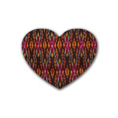 Thai Silk Rubber Coaster (heart)