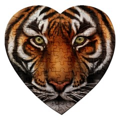 The Tiger Face Jigsaw Puzzle (heart)