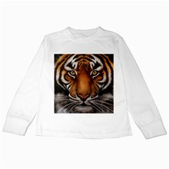 The Tiger Face Kids Long Sleeve T Shirts