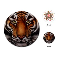 The Tiger Face Playing Cards (round)