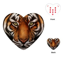The Tiger Face Playing Cards (heart)