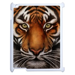 The Tiger Face Apple Ipad 2 Case (white)