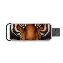 The Tiger Face Portable Usb Flash (one Side)