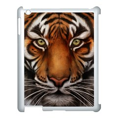 The Tiger Face Apple Ipad 3/4 Case (white)