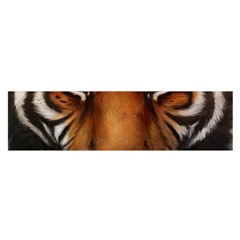 The Tiger Face Satin Scarf (oblong)