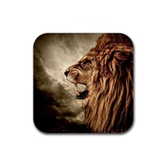 Roaring Lion Rubber Square Coaster (4 Pack)