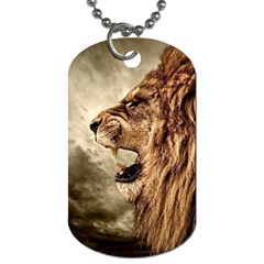 Roaring Lion Dog Tag (one Side)
