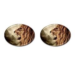 Roaring Lion Cufflinks (oval)