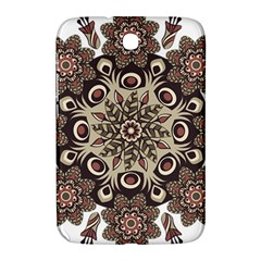 Mandala Pattern Round Brown Floral Samsung Galaxy Note 8 0 N5100 Hardshell Case