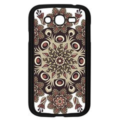 Mandala Pattern Round Brown Floral Samsung Galaxy Grand Duos I9082 Case (black)