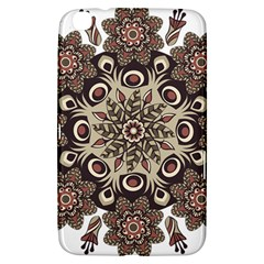 Mandala Pattern Round Brown Floral Samsung Galaxy Tab 3 (8 ) T3100 Hardshell Case