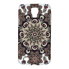 Mandala Pattern Round Brown Floral Galaxy S4 Active