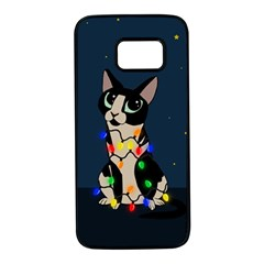 Meowy Christmas Samsung Galaxy S7 Black Seamless Case