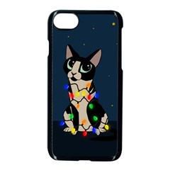 Meowy Christmas Apple Iphone 7 Seamless Case (black)