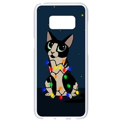 Meowy Christmas Samsung Galaxy S8 White Seamless Case