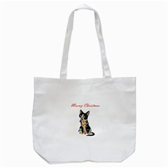 Meowy Christmas Tote Bag (white)