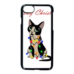 Meowy Christmas Apple Iphone 8 Seamless Case (black)