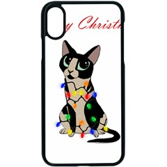 Meowy Christmas Apple Iphone X Seamless Case (black)
