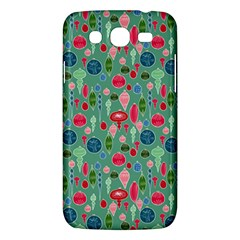 Vintage Christmas Hand Painted Ornaments In Multi Colors On Teal Samsung Galaxy Mega 5 8 I9152 Hardshell Case