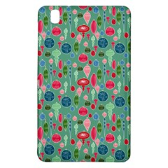 Vintage Christmas Hand Painted Ornaments In Multi Colors On Teal Samsung Galaxy Tab Pro 8 4 Hardshell Case