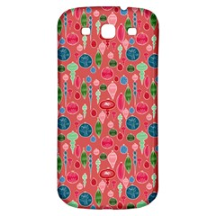 Vintage Christmas Hand Painted Ornaments In Multi Colors On Rose Samsung Galaxy S3 S Iii Classic Hardshell Back Case