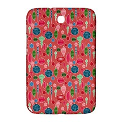 Vintage Christmas Hand Painted Ornaments In Multi Colors On Rose Samsung Galaxy Note 8 0 N5100 Hardshell Case